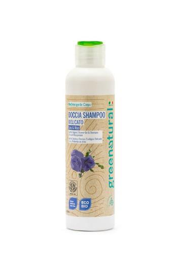Doccia shampoo delicato al Lino e proteine del Riso