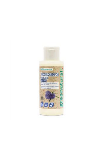 Doccia shampoo delicato al Lino e proteine da Riso 100 ml