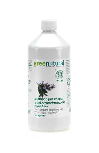 Shampoo capelli grassi e con forfora Salvia e Ortica 1 Lt